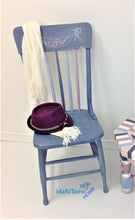 Load image into Gallery viewer, MaRiTama HOME farmhouse violet pink blue wood chair