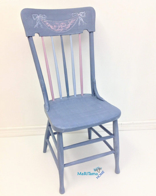MaRiTama HOME farmhouse violet pink blue wood chair