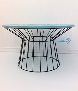 MaRiTama HOME indoor outdoor brick blue patio furniture coffee table