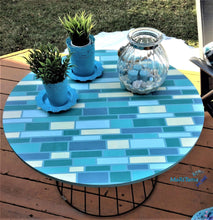 Load image into Gallery viewer, MaRiTama HOME indoor outdoor brick blue patio furniture coffee table