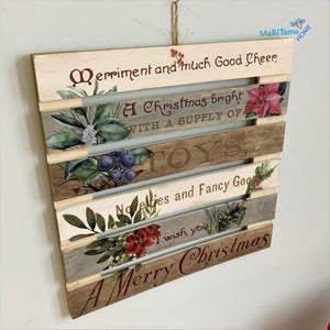 Large Wooden Christmas Sign - Home Decor MaRiTama HOME