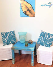 Load image into Gallery viewer, MaRiTama HOME Myconos blue coastal farmhouse side end accent table