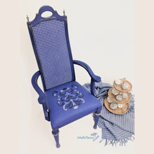 Load image into Gallery viewer, Napoleon's Blue Throne Chair - Furniture MaRiTama HOME