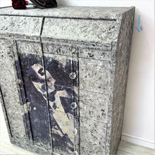 Load image into Gallery viewer, Retro Black Grey & White textured Lady Closet / Dresser / Cabinet - Furniture MaRiTama HOME