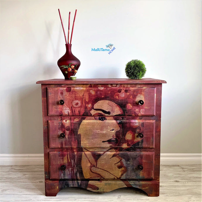 Retro Lady Brick Red Chest of Drawers / Dresser - Furniture MaRiTama HOME