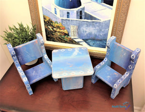 MaRiTama HOME Santorini Miniature Table and Chairs Home Decor Set