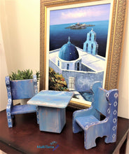Load image into Gallery viewer, MaRiTama HOME Santorini Miniature Table and Chairs Home Decor Set