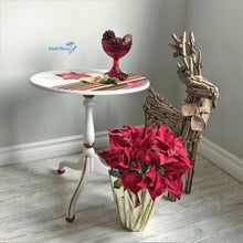 Load image into Gallery viewer, Small Foldable Red Poinsettia Accent Table - Furniture MaRiTama HOME