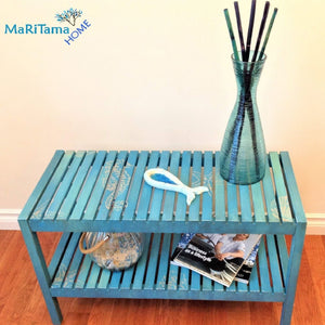 MaRiTama HOME coastal blue bench entry table