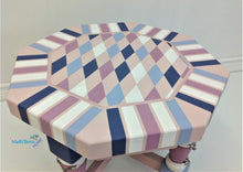 Load image into Gallery viewer, MaRiTama HOME whimsical pink blue violet white accent side table
