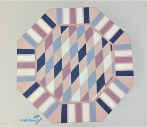 MaRiTama HOME whimsical pink blue violet white accent side table