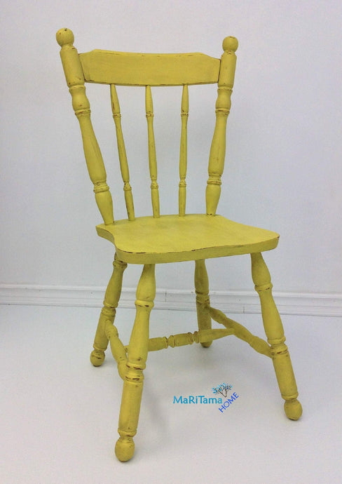 MaRiTama HOME farmhouse yellow wooden chair