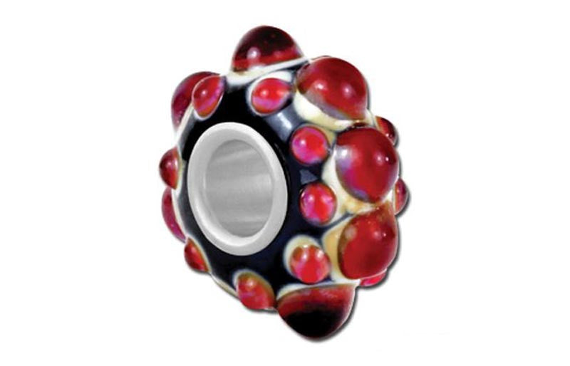 Lava Pools Glass Bead - Red