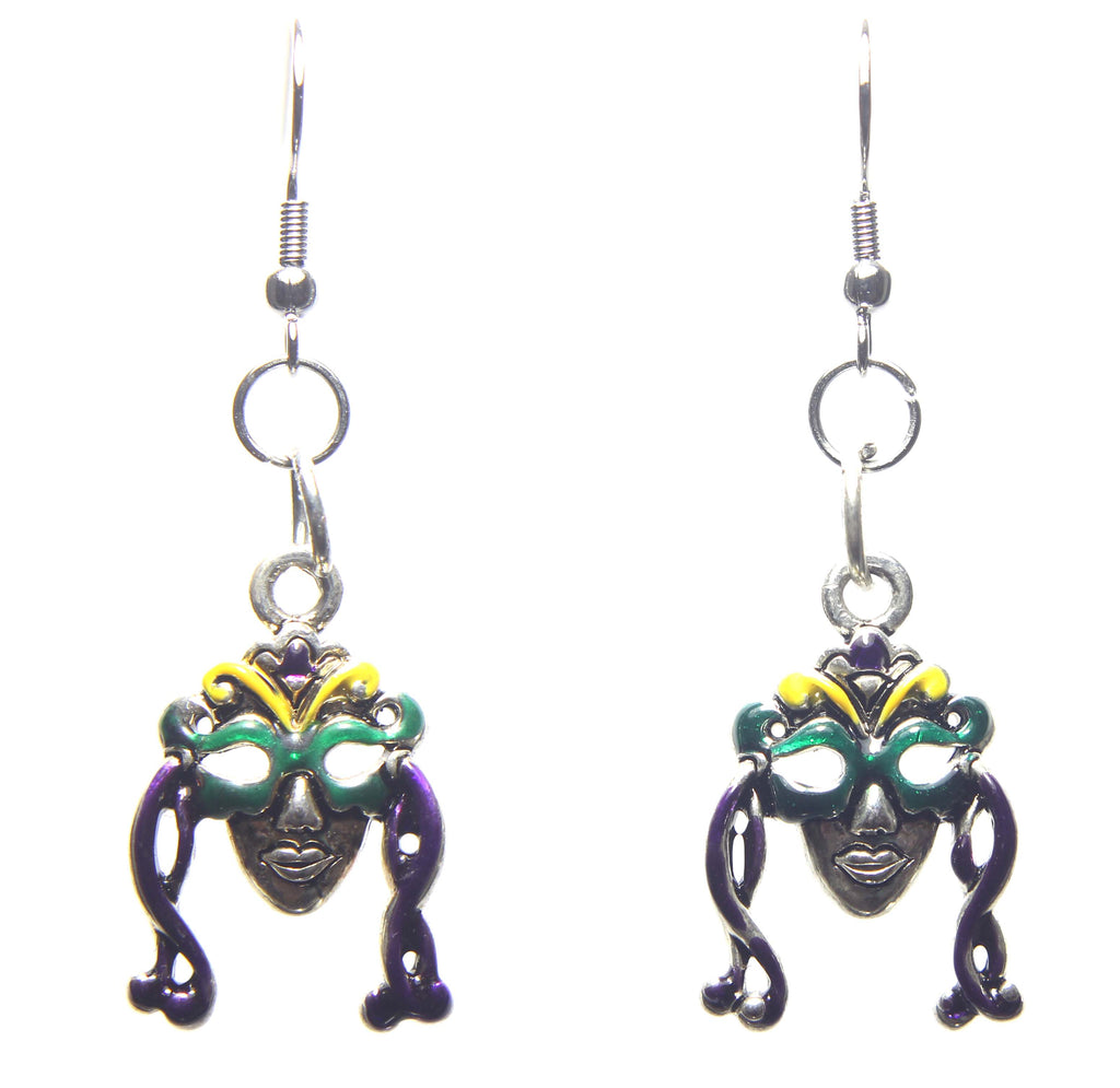 Mardi Gras Woman in a Mask Earrings