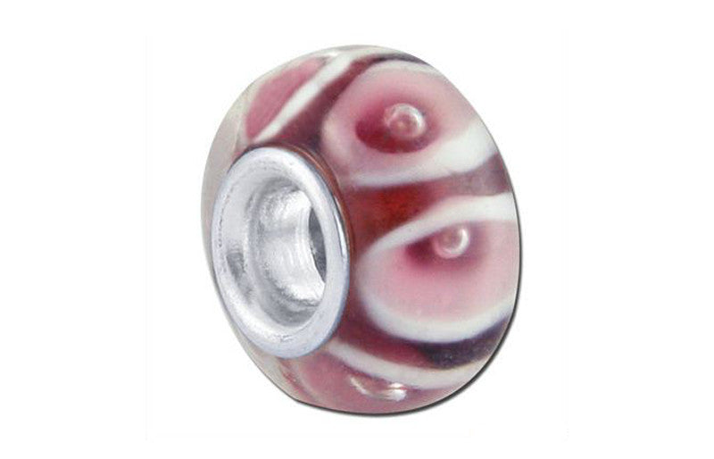 Lavender Lily Glass Bead - Purple