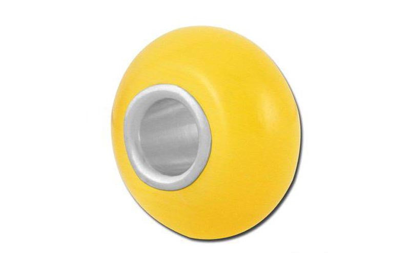 Fiber Optic Yellow Glass Bead - Yellow