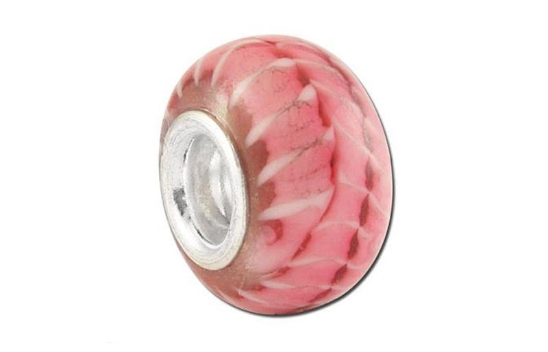Pink Panther Glass Bead - Pink