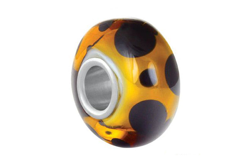 Get Spotted Glass Bead - Brown