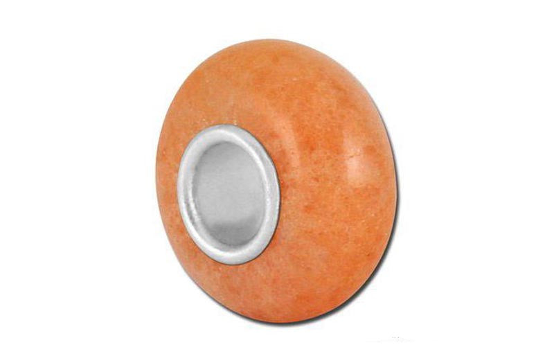 Bellastone Rhodonite Glass Bead - Orange