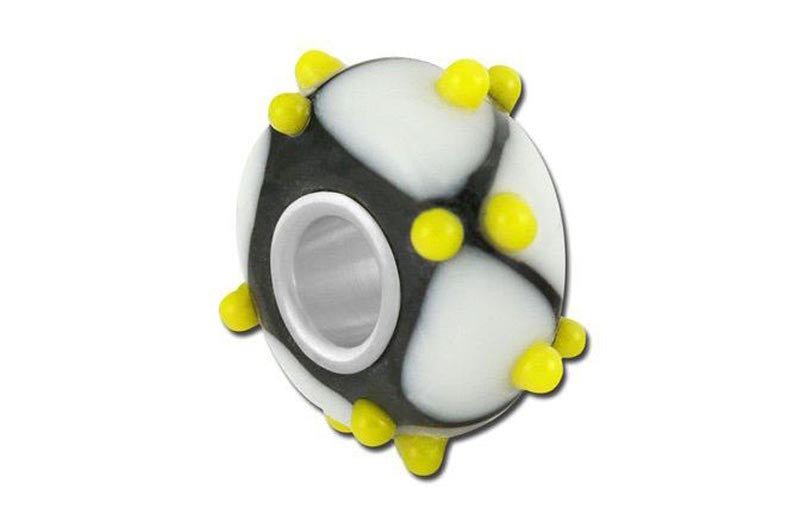 Yellow Jacket Glass Bead - Yellow