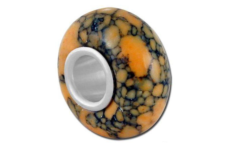 Bellastone Yellow Crackle Glass Bead - Yellow