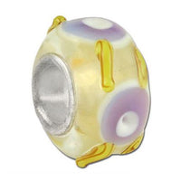 Art-O-Whirl Glass Bead - Yellow