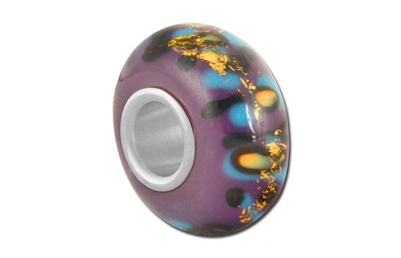 NYC Graffiti Glass Bead - Purple