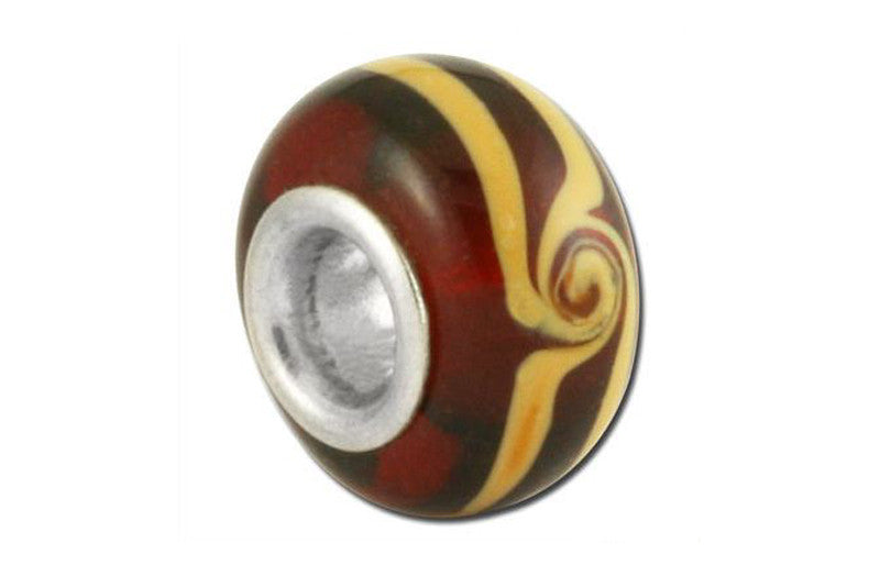 Espresso Spin Glass Bead - Brown