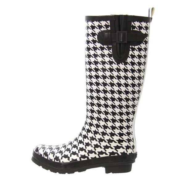 Houndstooth Rainboots (Size 9)