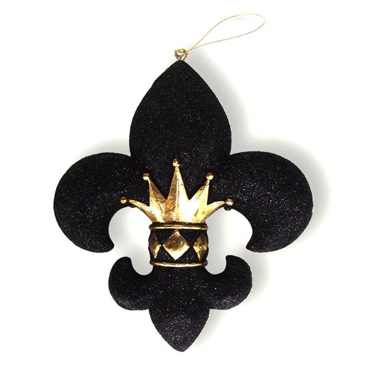Crown Fleur De Lis Ornament Medium