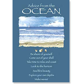 Birthday Card: Advice from the Ocean