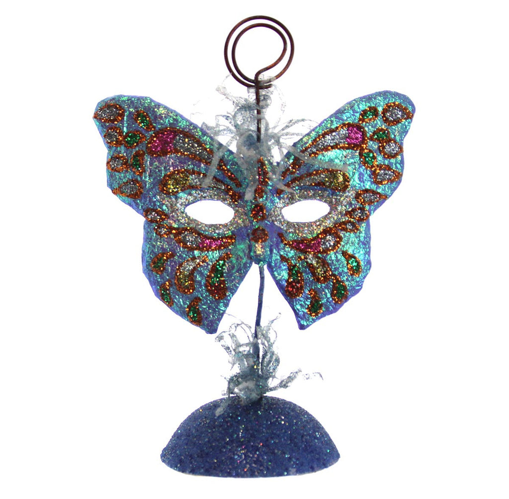 Butterfly Mask Picture/Place Card Holder - Blue