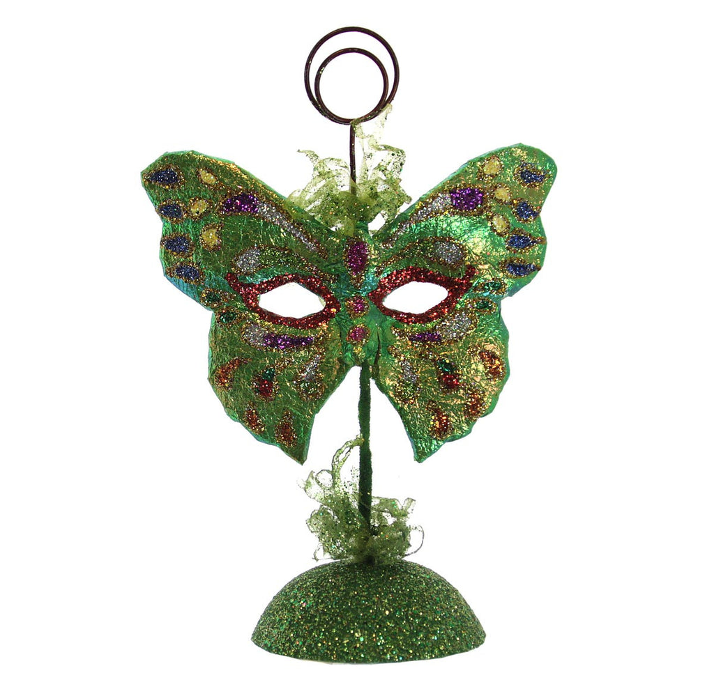 Butterfly Mask Picture/Place Card Holder - Green