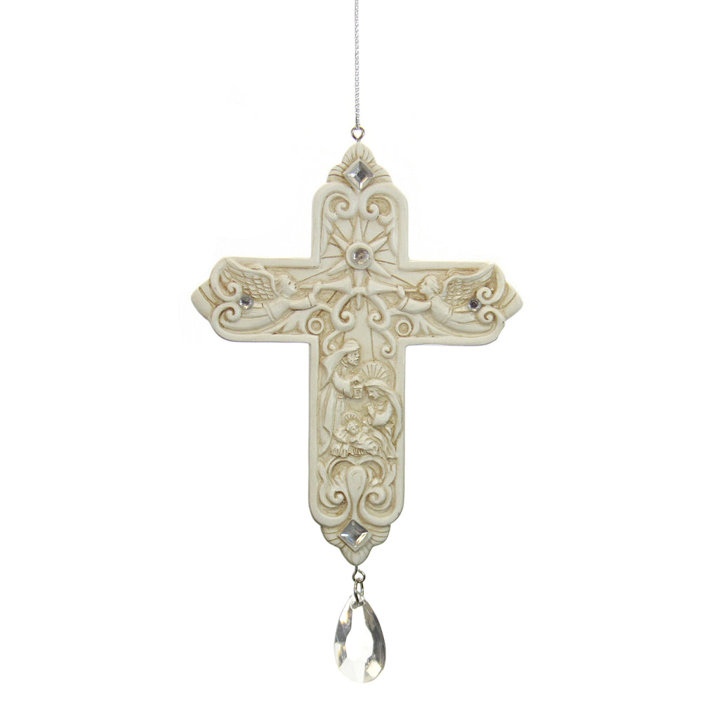 Cross Ornament-Nativity