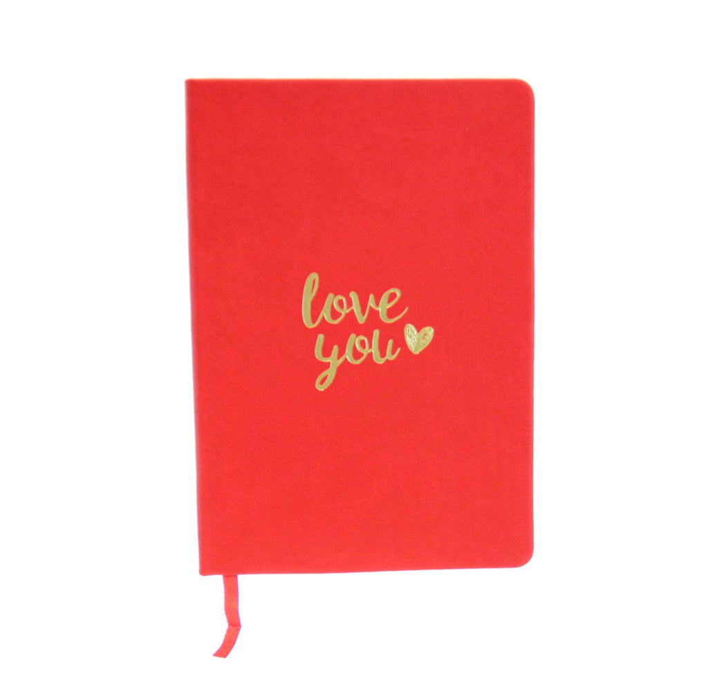 Leather Notebook/Journal-Love You Red