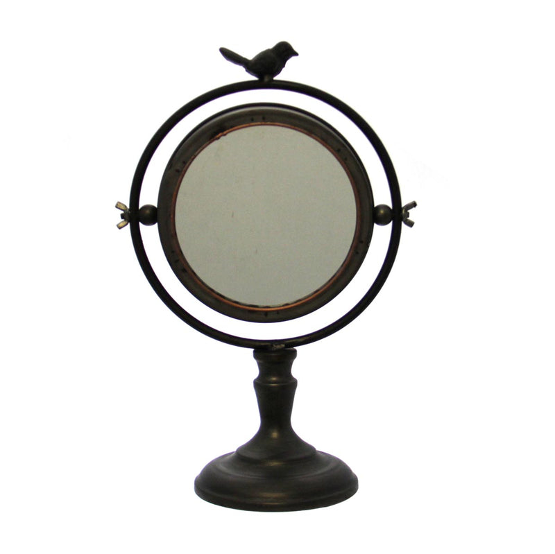 Table Mirror with Bird