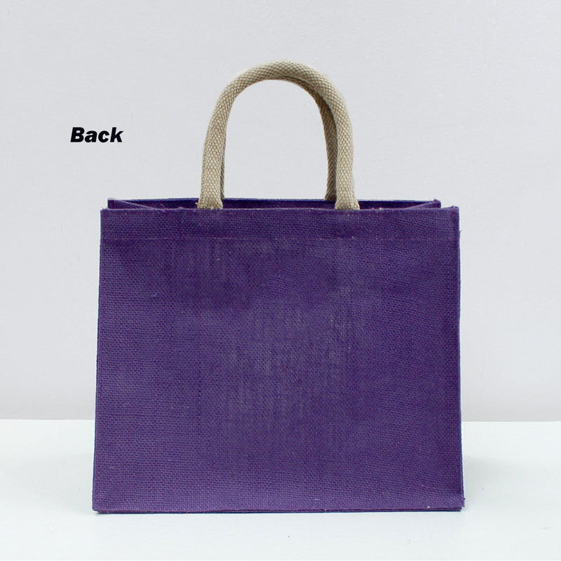 Mardi Gras Tote Bag, Purple & Gold, 12x10x8