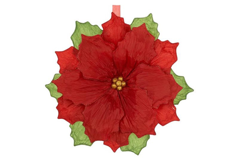 Poinsettia Decoration Large 15""