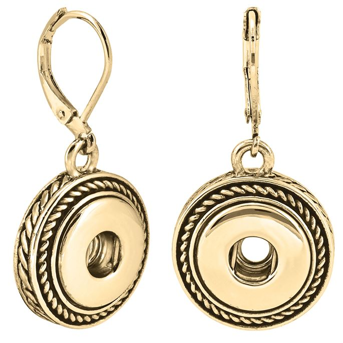 Ginger Snaps Petite Earrings Gold Rope