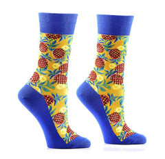 Yo Sox Women's Crew Socks Pineapple
