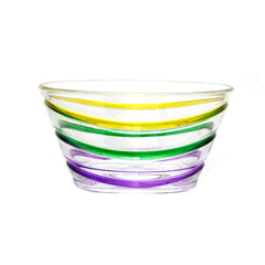 Tri-color Mardi Gras salad bowl