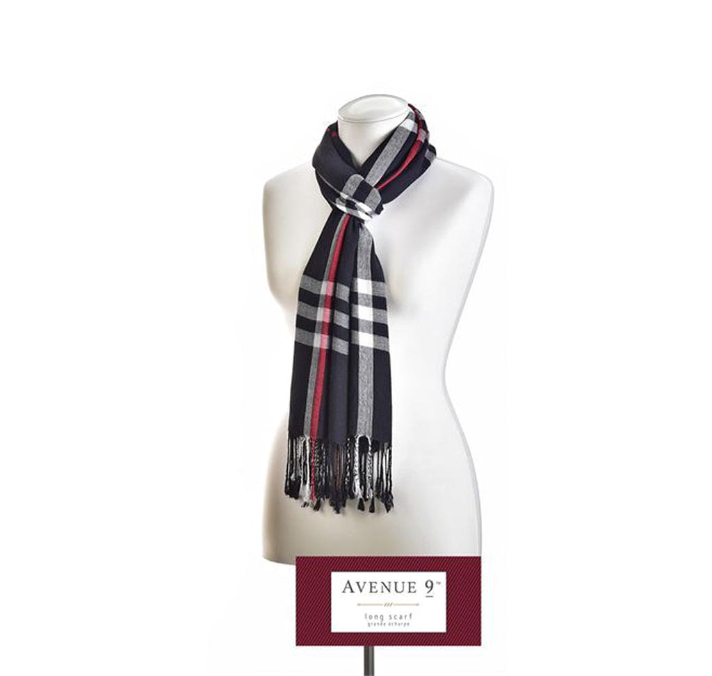 Avenue 9 Holiday Glam, Plaid Scarf