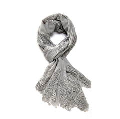 Lace Scarf - Grey