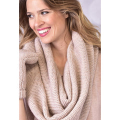 Infinity Scarf with Lurex - Cream