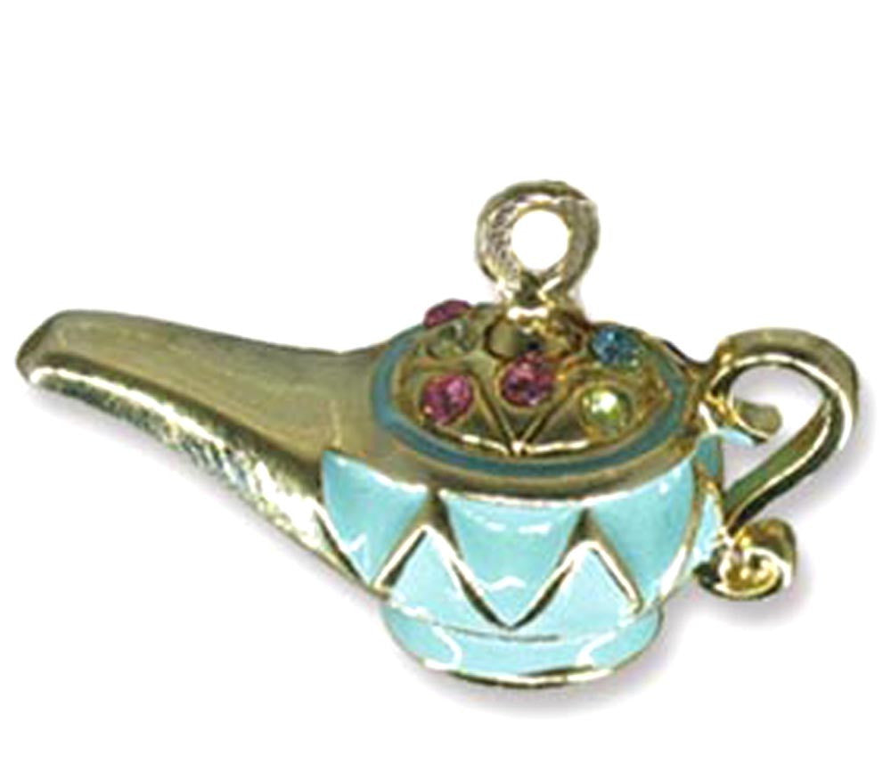 Genie Lamp Necklace Lime Green