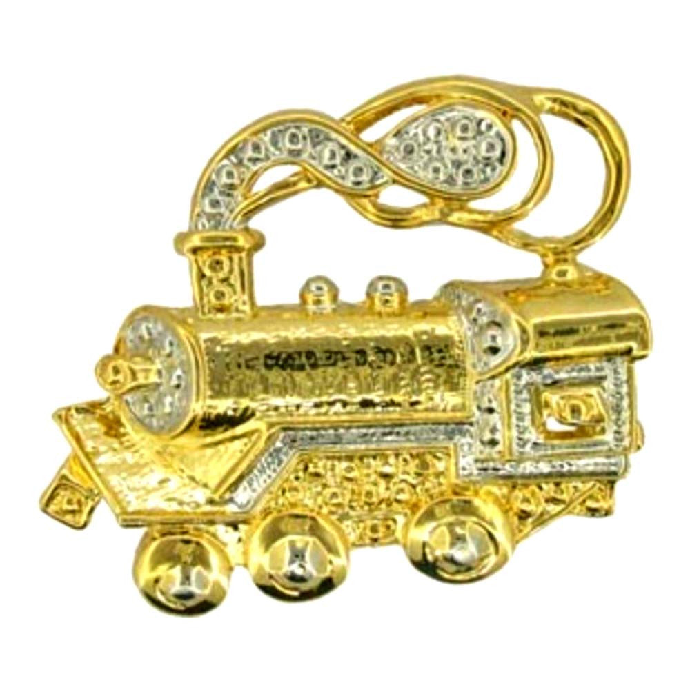 Train Engine Pin Gold