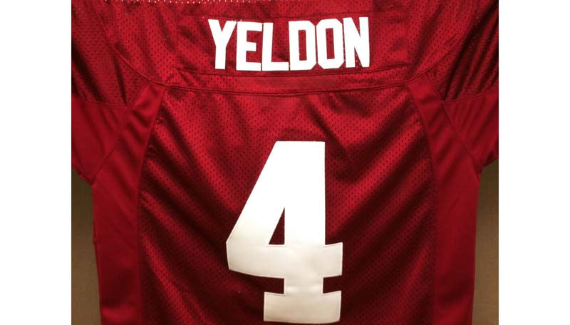 Football Jersey Alabama Crimson Tide #4 T.J Yeldon Crimson 50