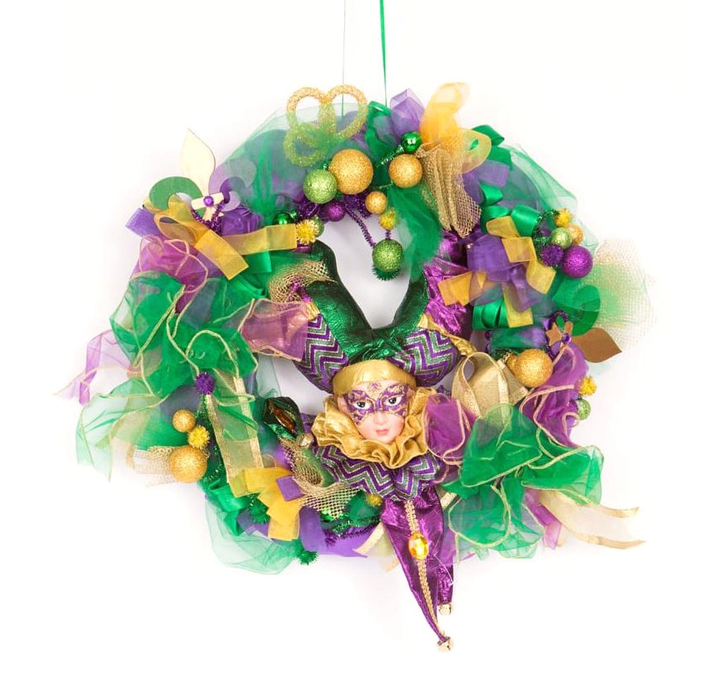 Mardi Gras Wreath Jester Head