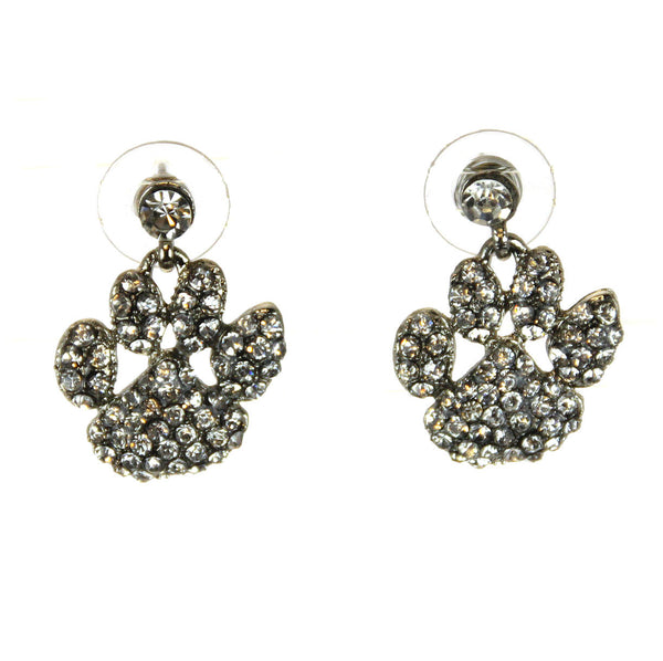 Tiger Paws Earrings Pave Crystals