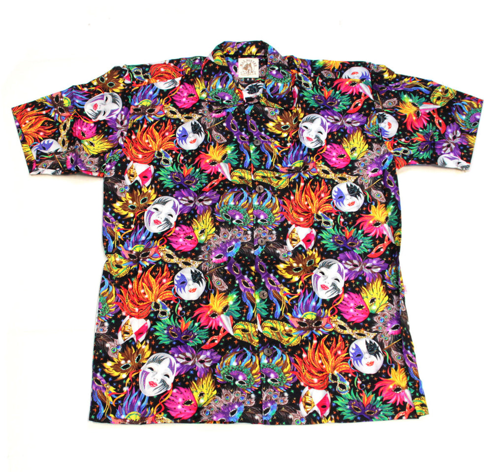 Mardi Gras Mask Shirt-Large